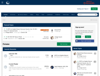 forum.canucks.com screenshot