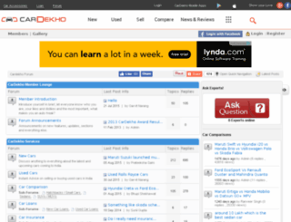 forum.cardekho.com screenshot