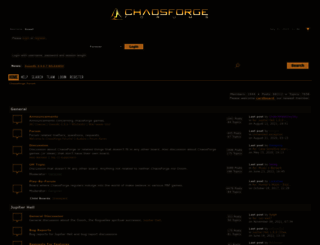 forum.chaosforge.org screenshot