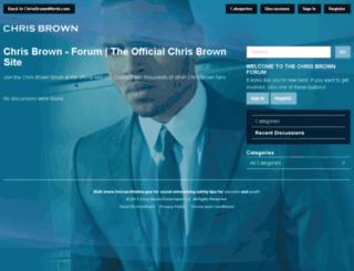 forum.chrisbrownworld.com screenshot