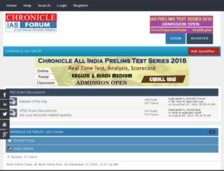 forum.chronicleias.com screenshot