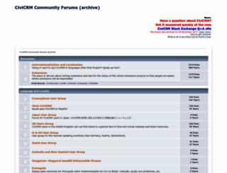forum.civicrm.org screenshot