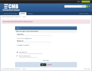 forum.clickbankmasterblueprint.com screenshot