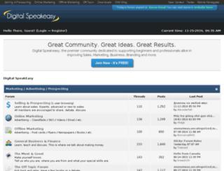 forum.digitalspeakeasy.com screenshot