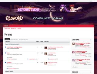 forum.elsword.koggames.com screenshot