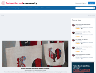 forum.embroideres.com screenshot