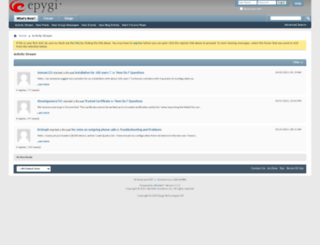 forum.epygi.com screenshot