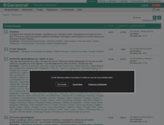forum.geneanet.org screenshot