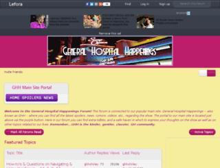 forum.generalhospitalhappenings.com screenshot
