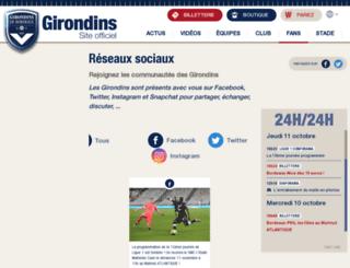 forum.girondins.com screenshot