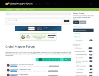 forum.globalmapperforum.com screenshot