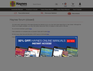 forum.haynes.com screenshot