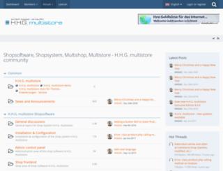 forum.hhg-multistore.com screenshot