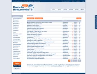 forum.hirntumorhilfe.de screenshot