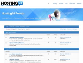forum.hosting24.com screenshot