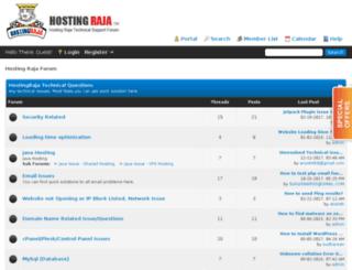 forum.hostingraja.in screenshot