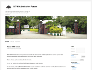 forum.iiit.ac.in screenshot