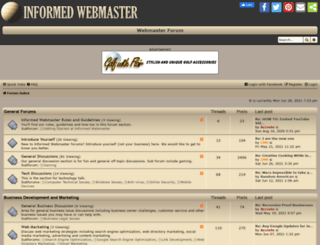 forum.informedwebmaster.com screenshot