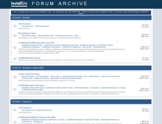 forum.installsite.net screenshot