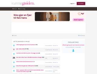 forum.kvinneguiden.no screenshot
