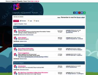 forum.legendsofequestria.com screenshot