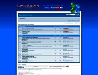 forum.liveadmin.net screenshot