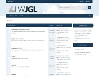 forum.lwjgl.org screenshot