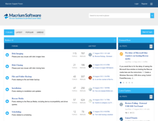 forum.macrium.com screenshot