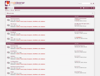 forum.mailcleaner.org screenshot