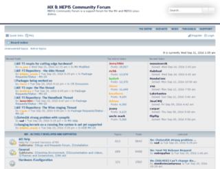 forum.mepiscommunity.org screenshot