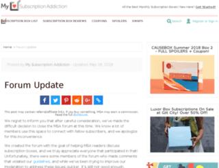 forum.mysubscriptionaddiction.com screenshot