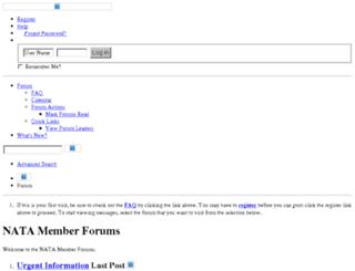 forum.nata.org screenshot
