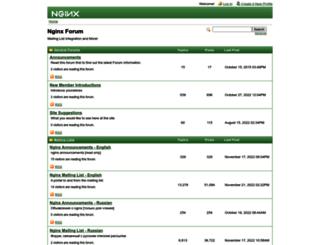 forum.nginx.org screenshot