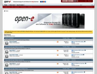 forum.open-e.com screenshot