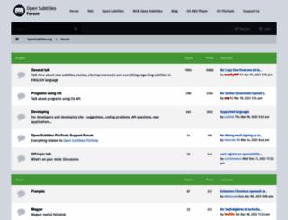 forum.opensubtitles.org screenshot