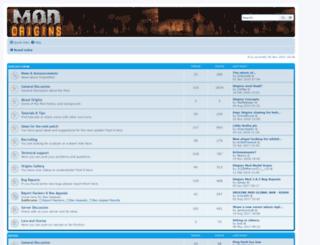 forum.originsmod.info screenshot