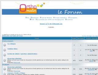 forum.orthomalin.com screenshot