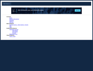 forum.ovh.co.uk screenshot