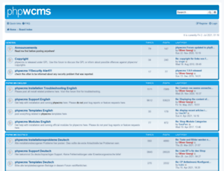forum.phpwcms.org screenshot