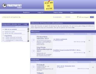 forum.piratpartiet.se screenshot