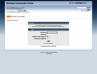 forum.playstarfleet.com screenshot