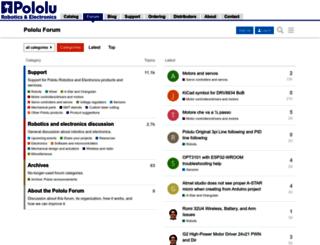 forum.pololu.com screenshot