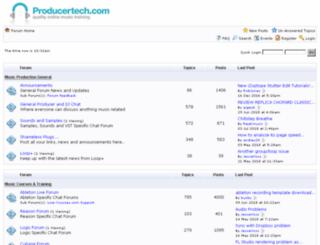 forum.producertech.com screenshot