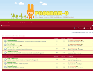 forum.program-o.com screenshot