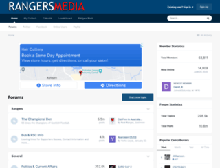 forum.rangersmedia.co.uk screenshot