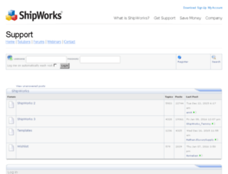 forum.shipworks.com screenshot