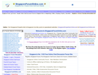 forum.singaporeforumonline.com screenshot