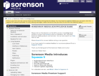 forum.sorensonmedia.com screenshot
