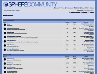 forum.spherecommunity.net screenshot