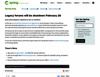 forum.springframework.net screenshot